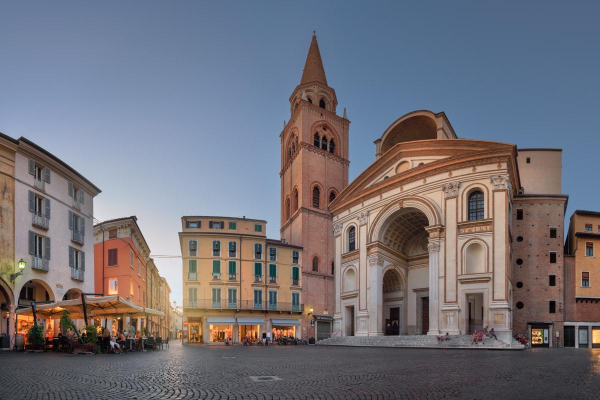 Panorama of Basilica di Sant Andrea, Mantua, Lombardy, Italy