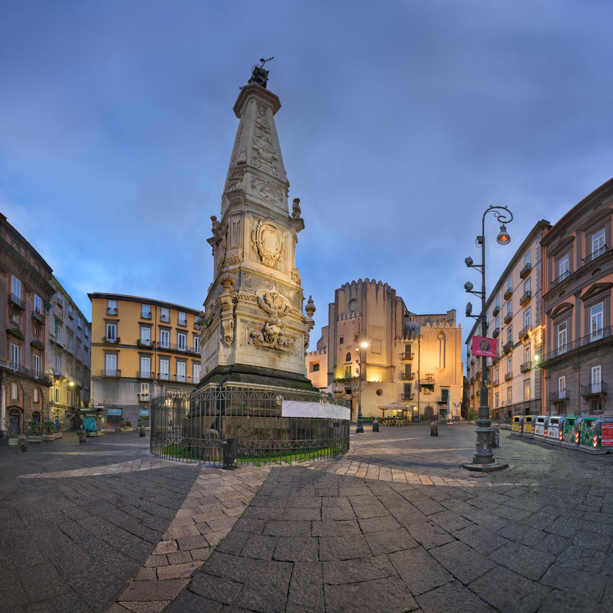 Piazza San Domenico Maggiore in the Evening, Naples, Italy