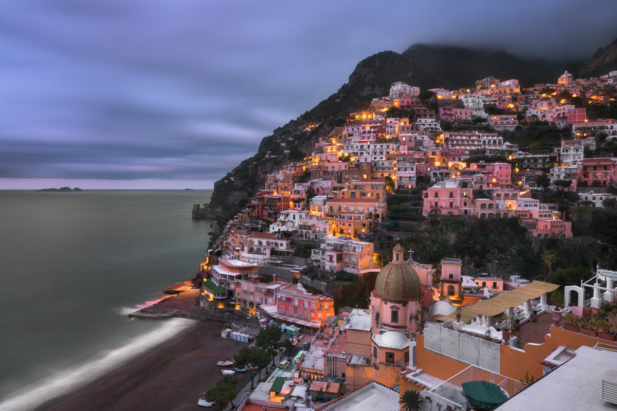 Positano in the Morning, Amalfi Coast, Italy
