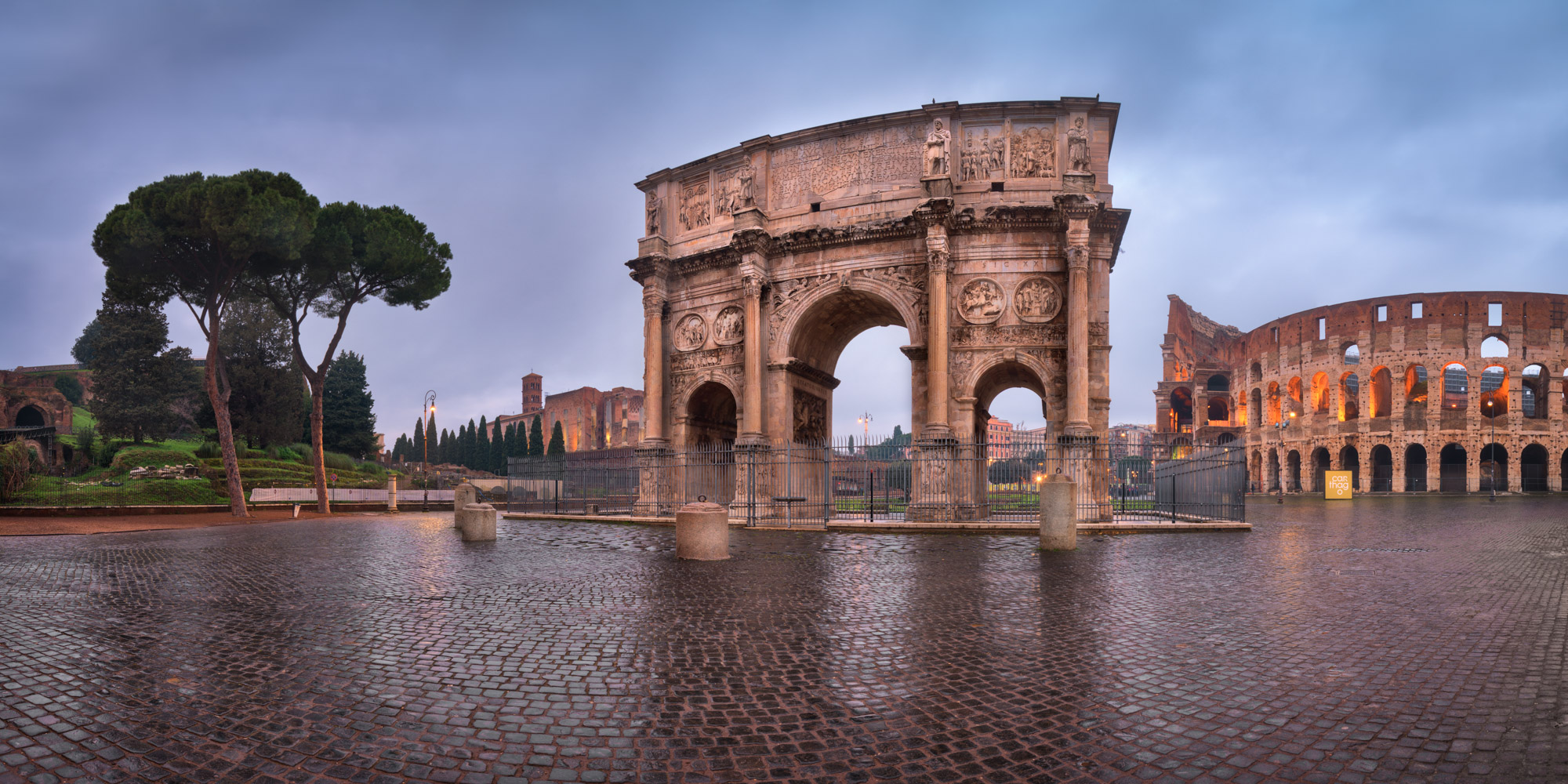 Arch of Constantine and Colosseum, Rome, Italy