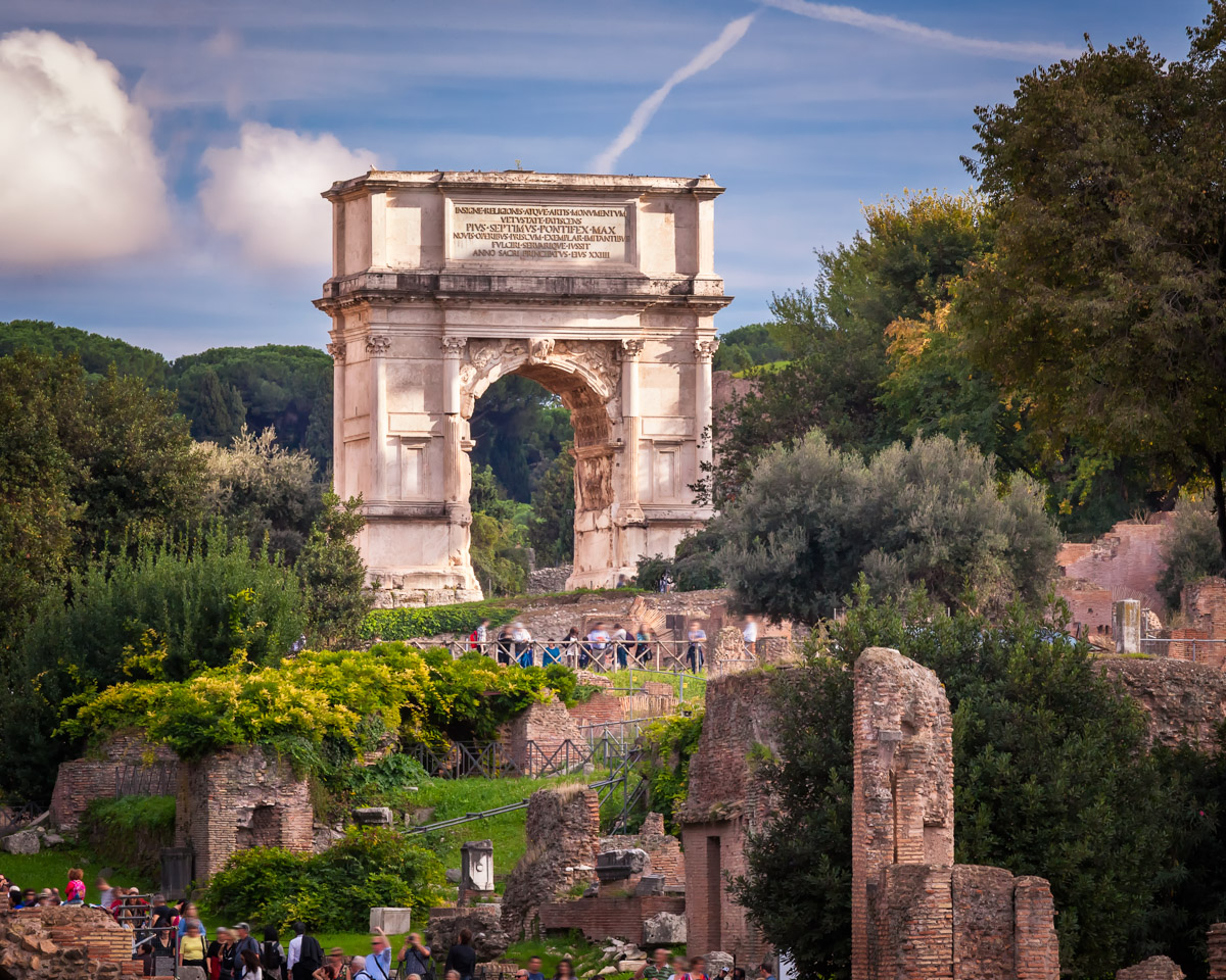 Arch of Titus and Roman Forum, Rome, Italy