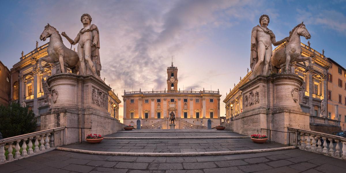 Cordonata and Piazza del Campidoglio, Rome, Italy