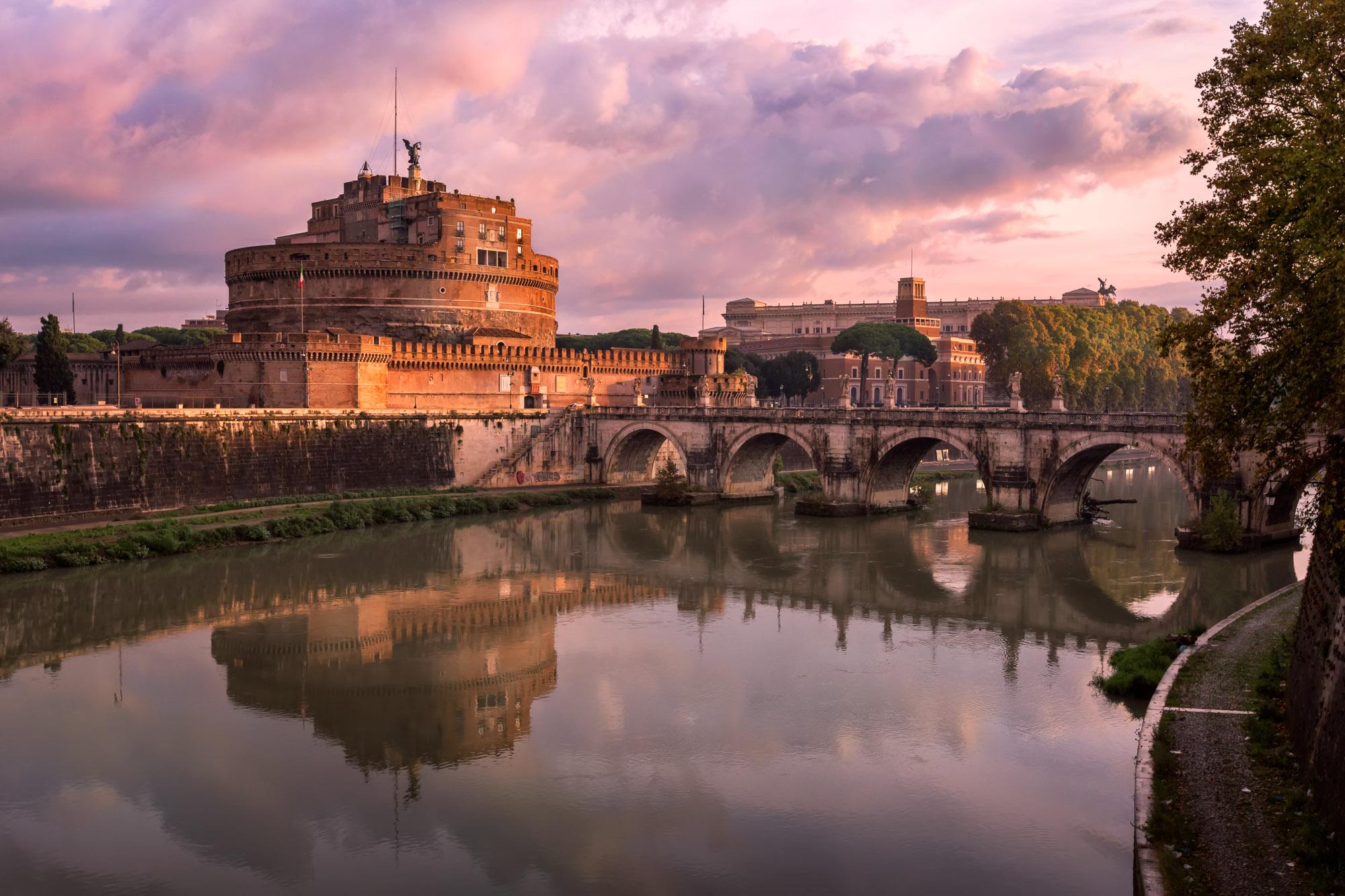 Hadrian Masoleum and Sant Angelo Bridge, Rome, Italy