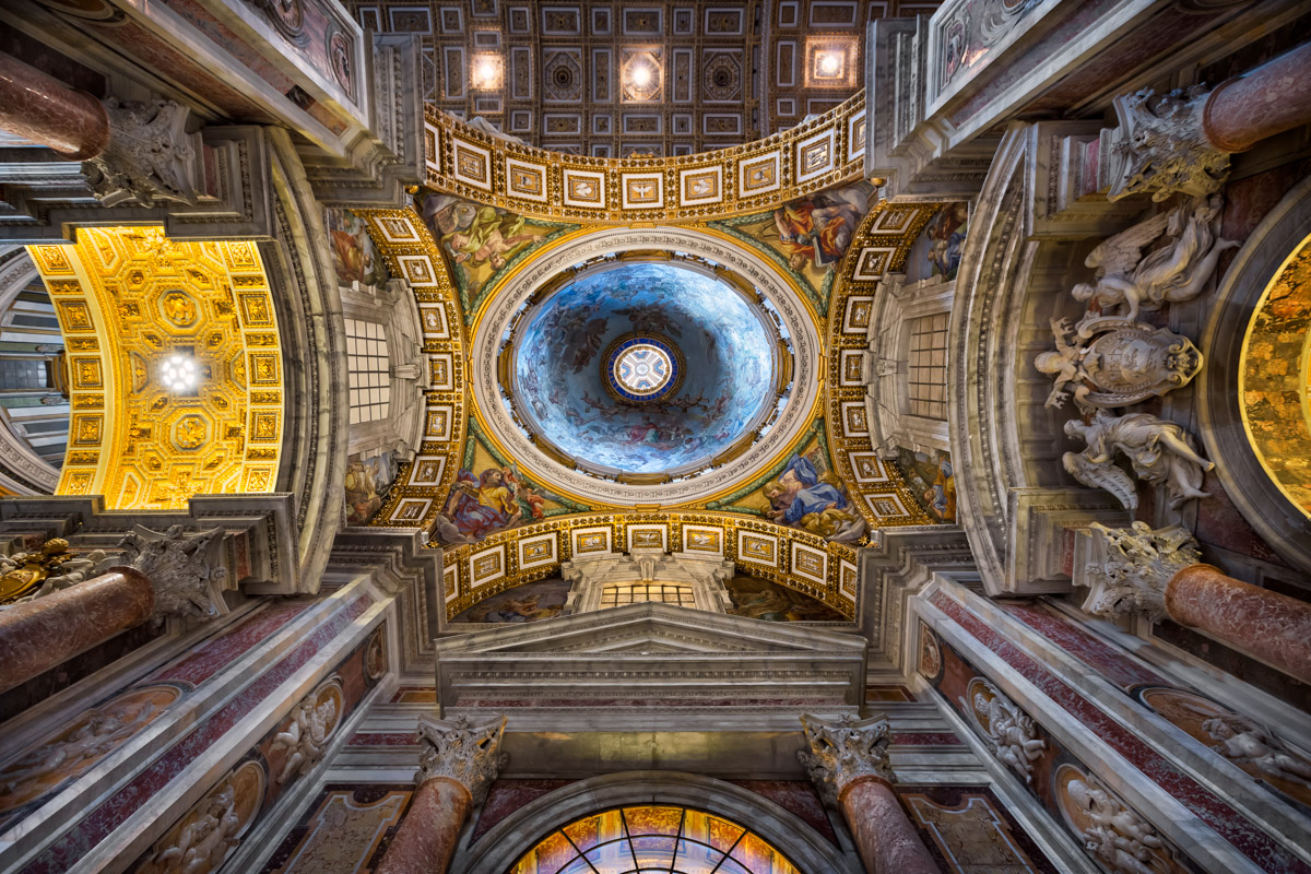 Interior of Saint Peter's Basilica, Rome, Italy