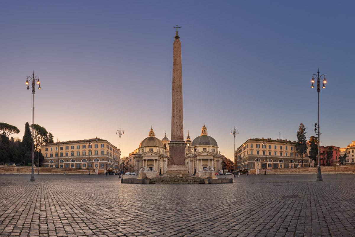 Piazza del Popolo and Flaminio Obelisk, Rome, Italy