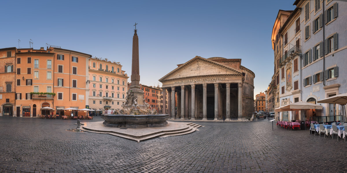 Piazza della Rotonda and Pantheon, Rome, Italy