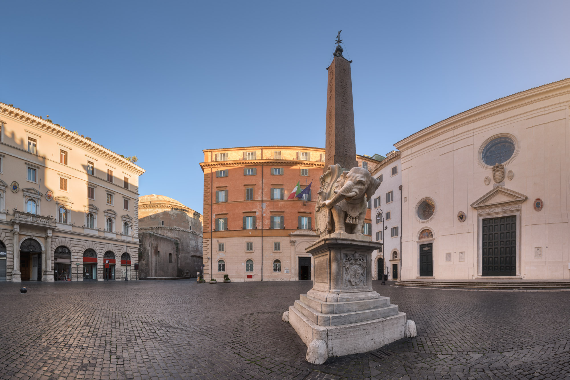 Piazza Minerva and Apries Obelisk, Rome, Italy