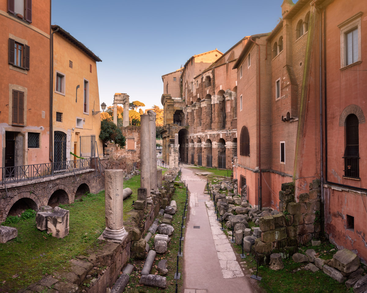 Portico of Octavia and Theatre of Marcellus, Rome, Italy