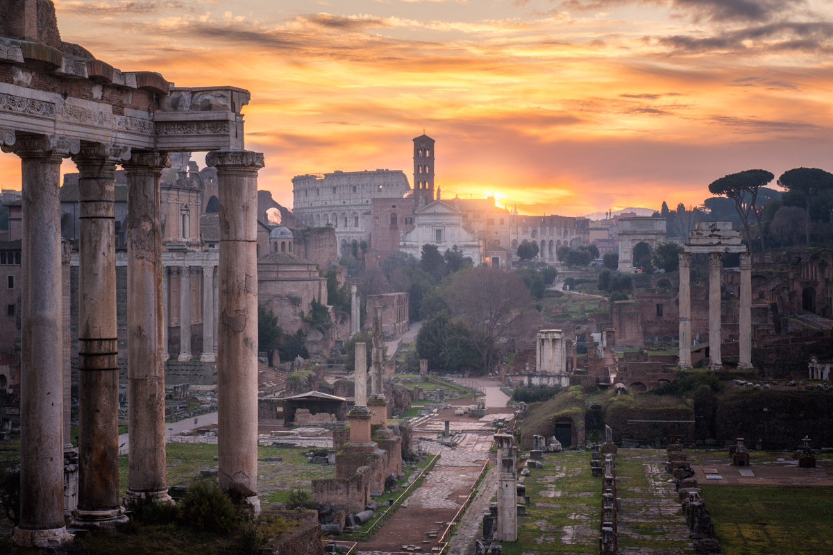 Roman Forum at Sunrise, Rome, Italy