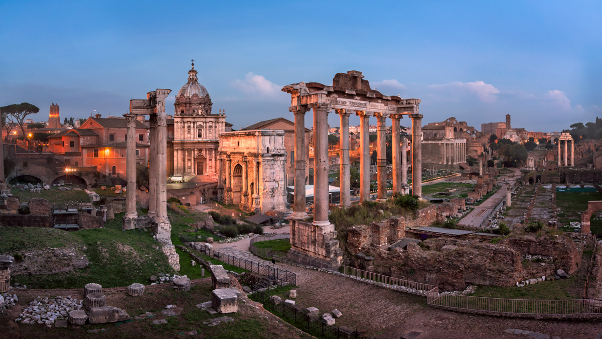 Roman Forum in the Evening, Rome, Italy