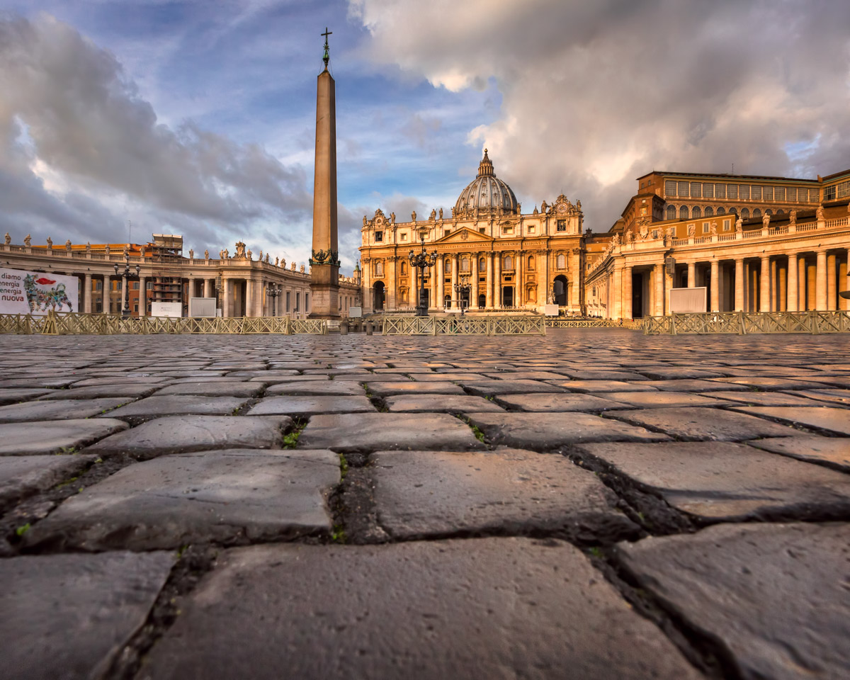 Saint Peter Square and Saint Peter Basilica, Rome, Italy