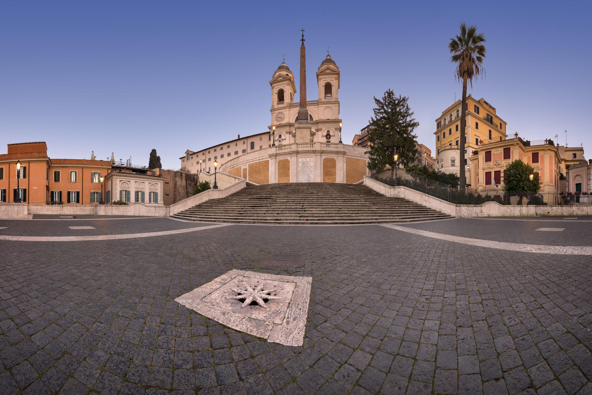 Spanish Steps and Trinita dei Monti Church, Rome, Italy