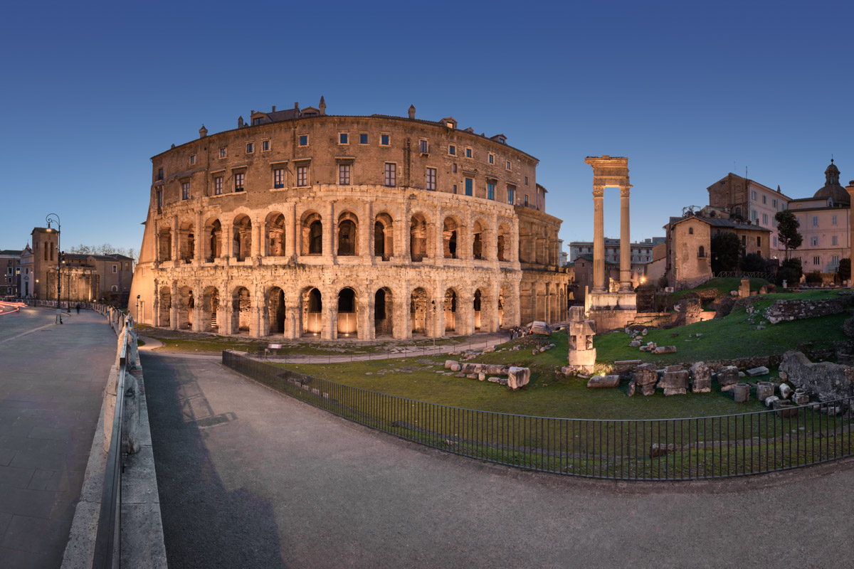Theatre of Marcellus in the Evening, Rome, Italy