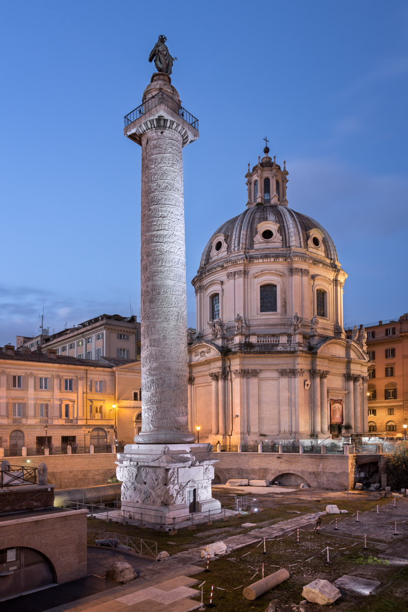 Trajan Column, Church of the Most Holy Name of Mary, Rome, Italy