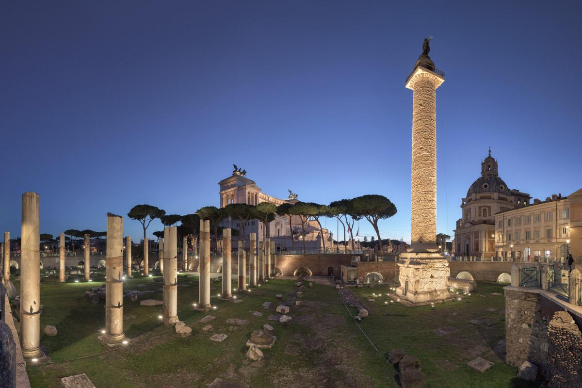 Trajan Column, Santa Maria di Loreto Church, Rome, Italy
