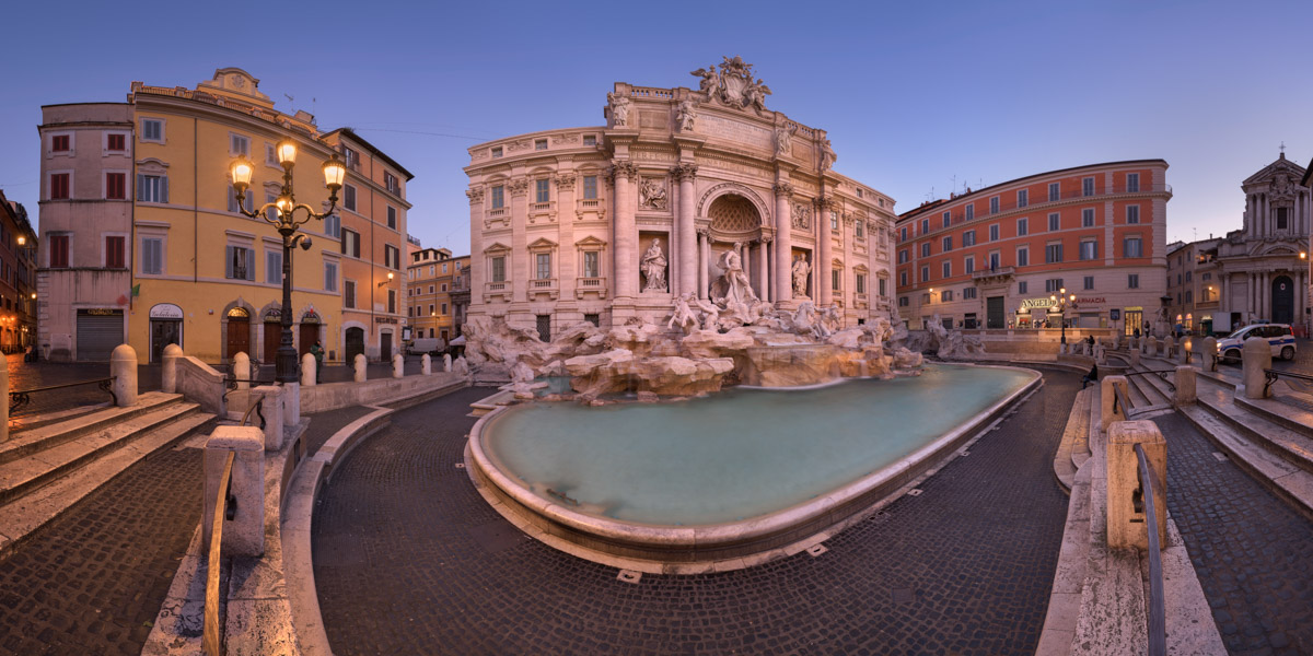 Trevi Fountain and Piazza di Trevi, Rome, Italy