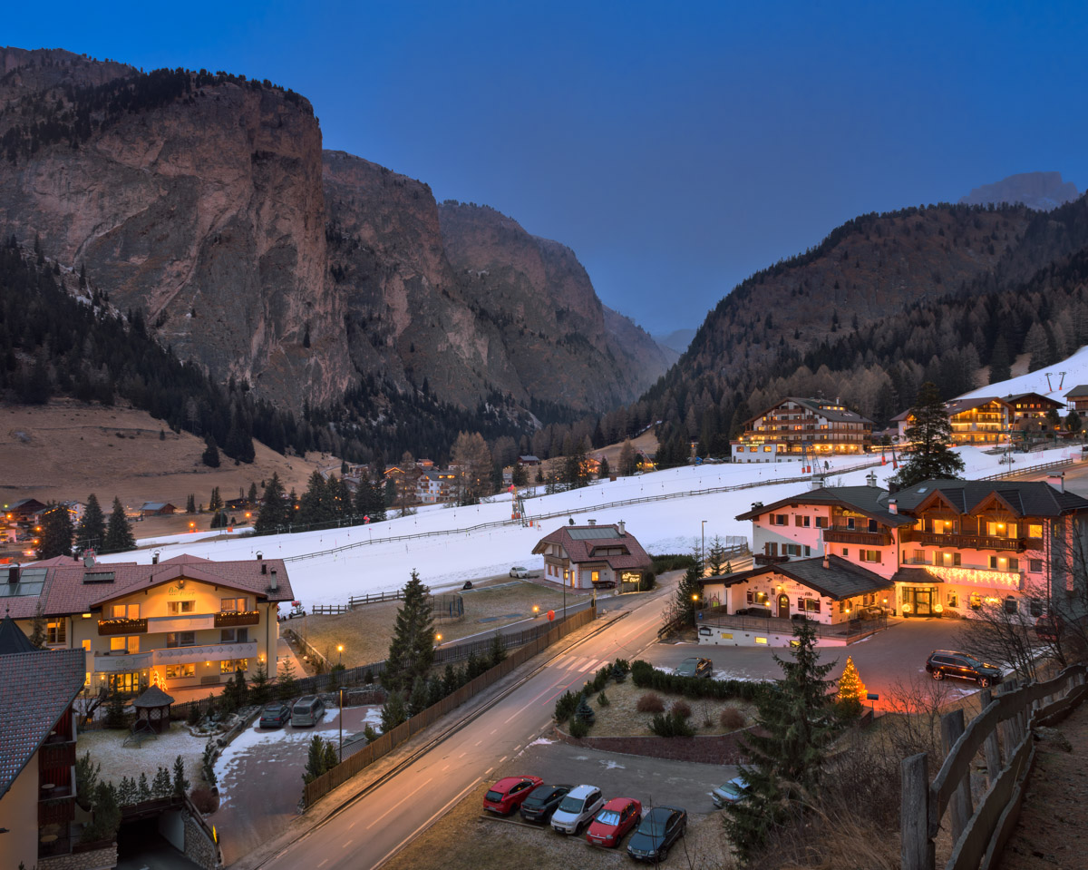 Ski Resort Selva di Val Gardena, Dolomites, Italy