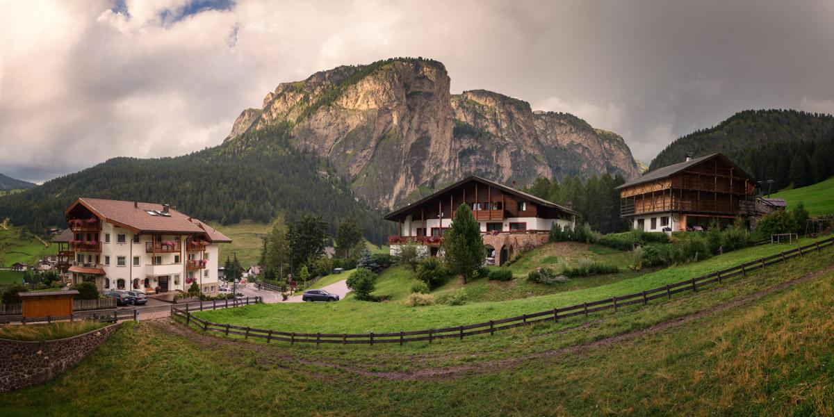 Village of Selva di Val Gardena, Dolomites, Italy