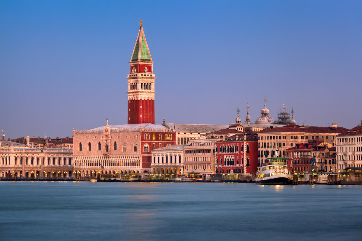 Campanile, Doges Palace and Venice Skyline, Venice, Italy
