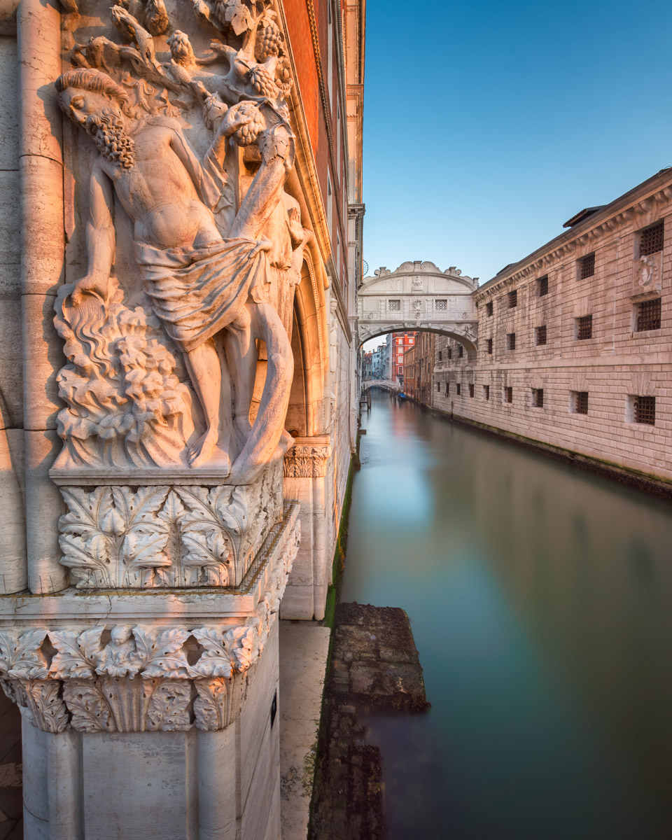 Drunkenness of Noah Bas-Relief and Bridge of Sighs, Venice