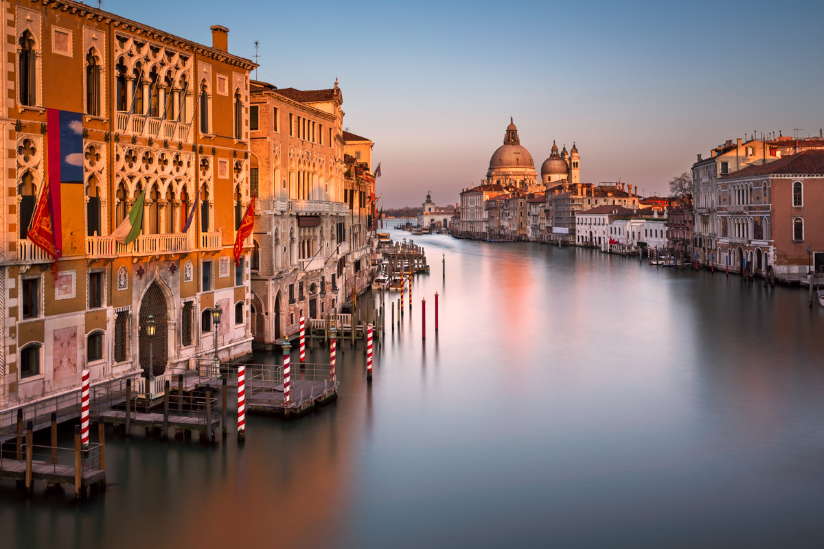 Grand Canal and Santa Maria della Salute Church at Sunset, Venice