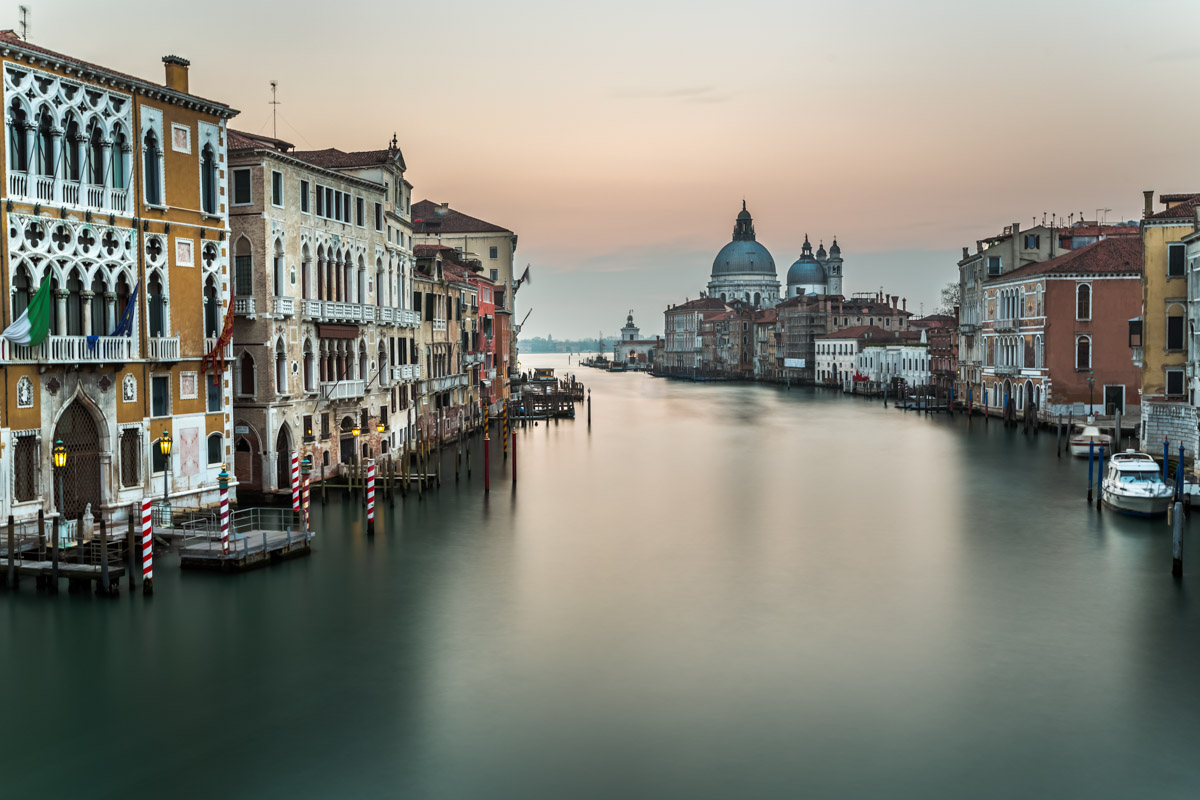 Grand Canal and Santa Maria della Salute Church, Venice, Italy