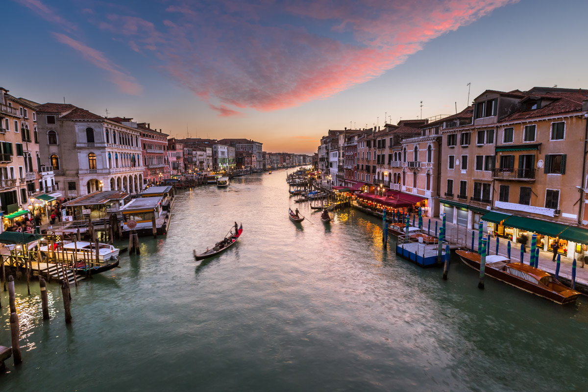 Grand Canal from Rialto Bridge, Venice, Italy