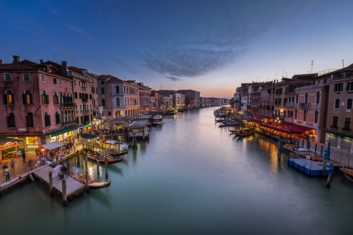 Grand Canal in the Evening, Venice, Italy