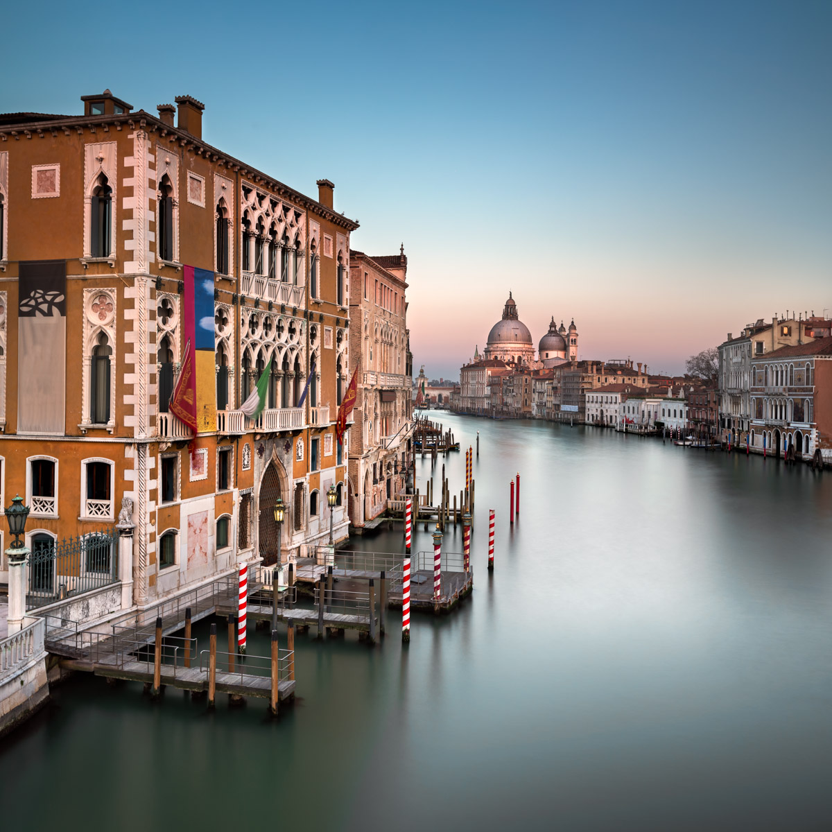 Grand Canal, Santa Maria della Salute Church, Evening, Venice