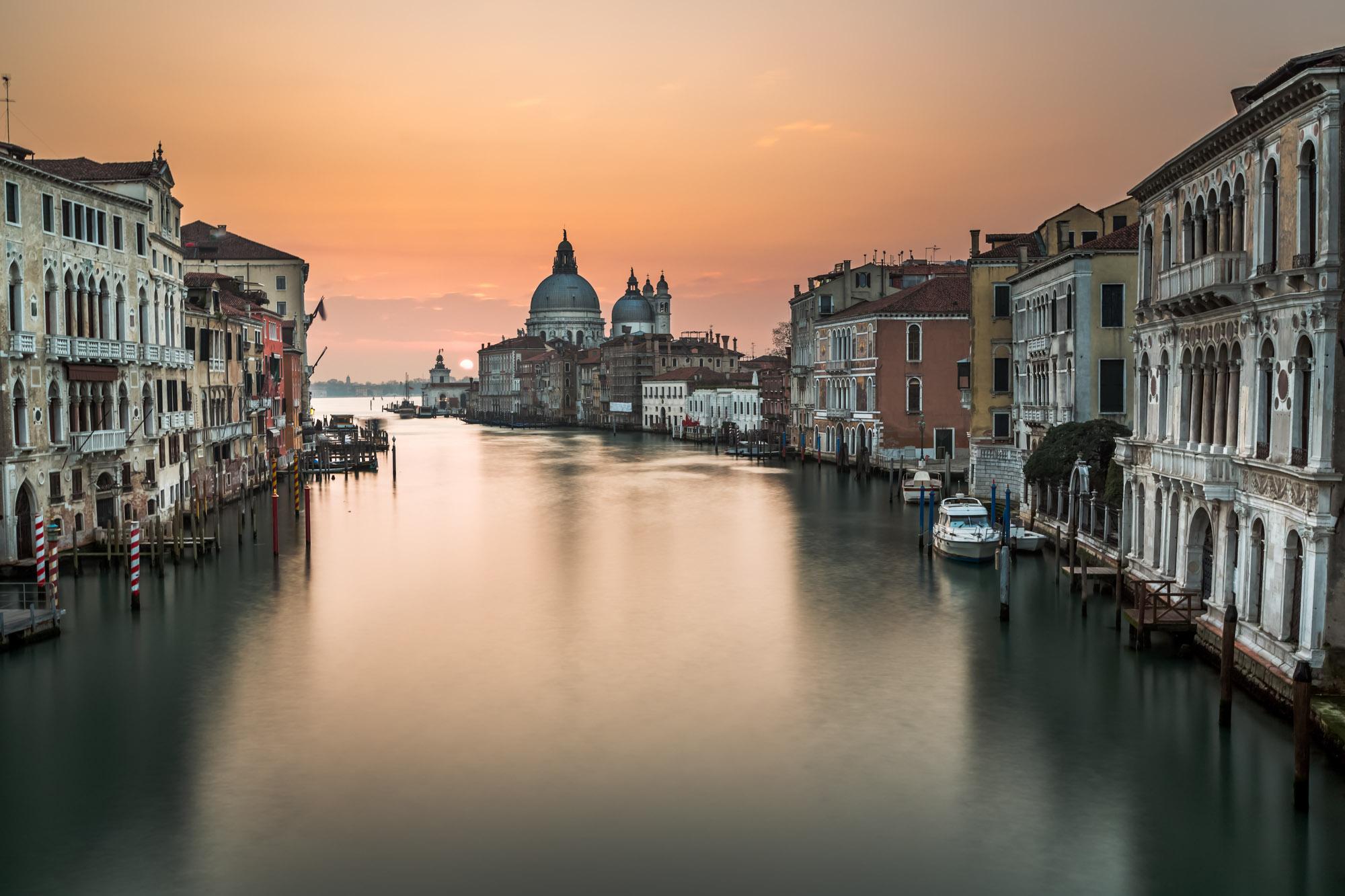 Grand Canal, Santa Maria della Salute Church, Venice, Italy