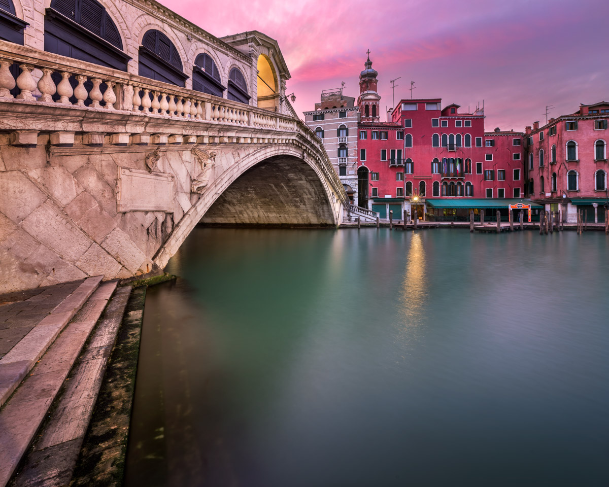 Rialto Bridge and San Bartolomeo Church, Venice, Italy