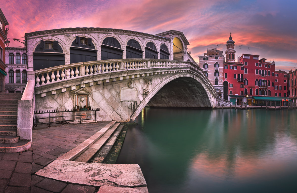 Rialto Bridge, San Bartolomeo Church, Venice, Italy