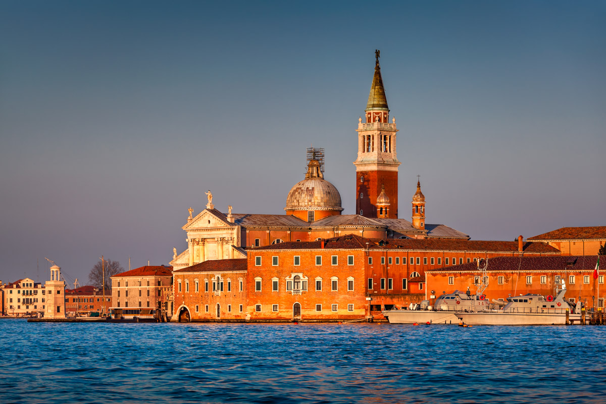 San Giorgio Maggiore Church in the Evening, Venice, Italy