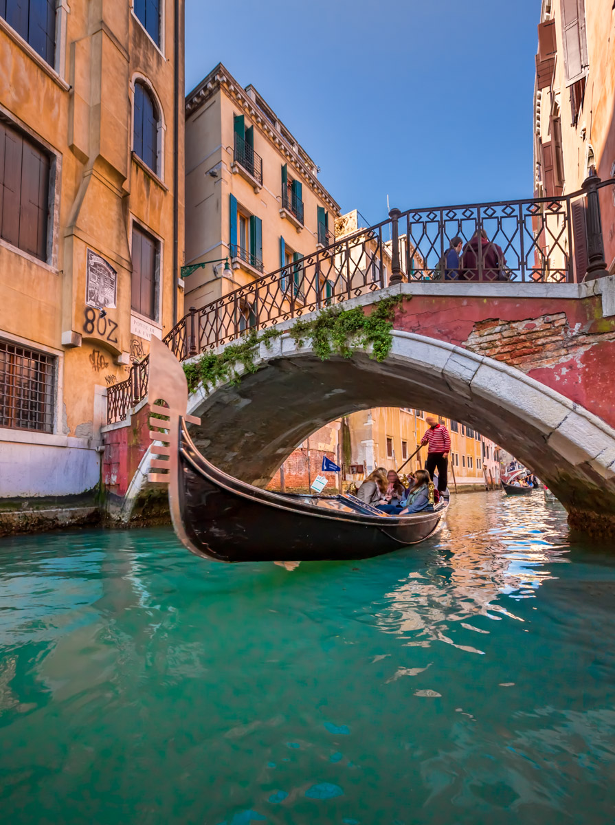 Traditional Venice Gondola Ride, Venice, Italy