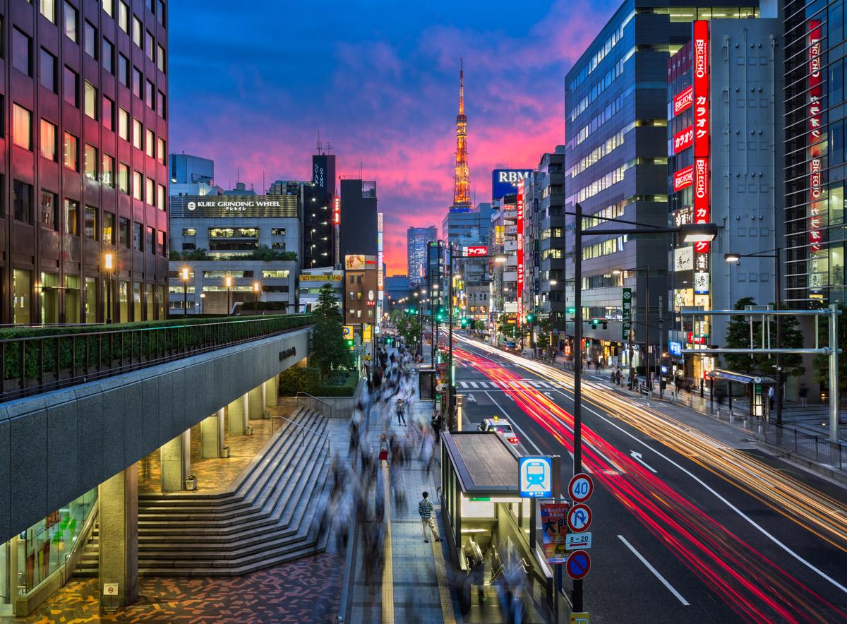 Hamamatsucho District, Minato City, Tokyo, Japan