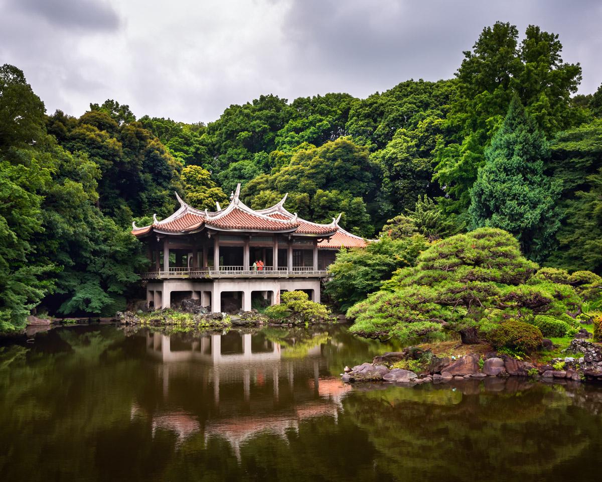 Taiwan Pavilion, Shinjuku Gyoen National Garden, Tokyo, Japan