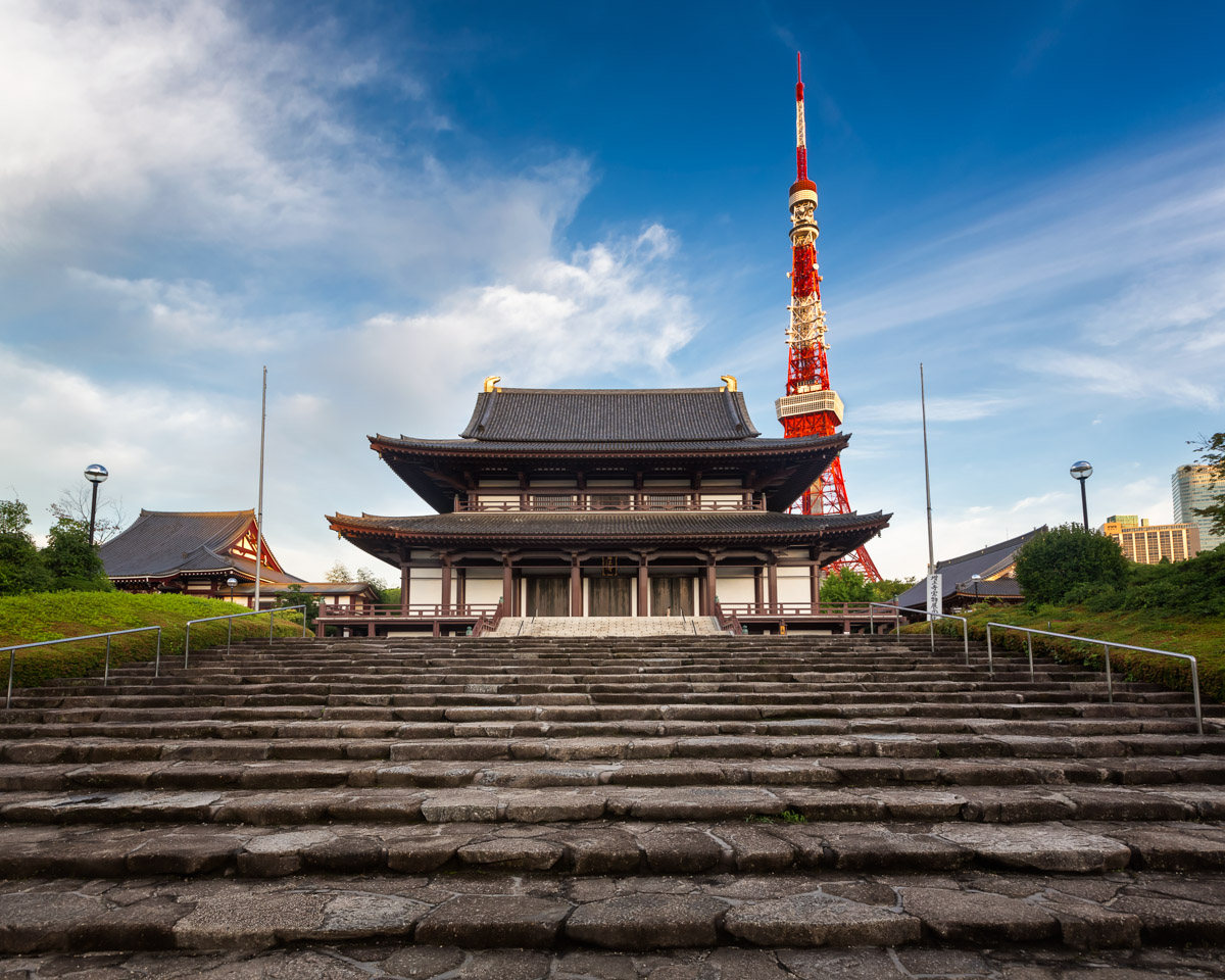 Zojo-ji Temple, Tokyo Tower, Tokyo, Japan
