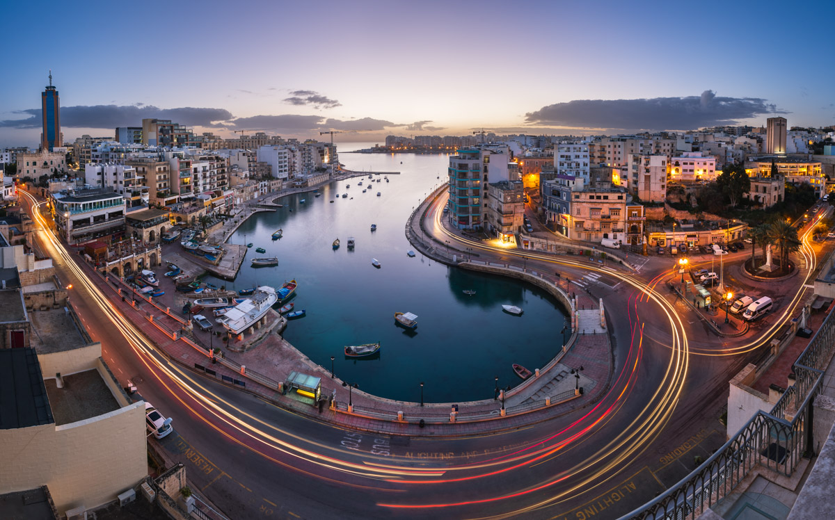 Panorama of Saint Julian's and Spinola Bay, Malta