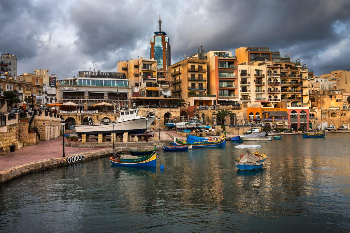 Spinola Bay and Portomaso Tower, Saint Julian's, Malta