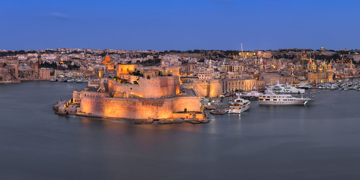 Birgu Skyline, Three Cities, Malta