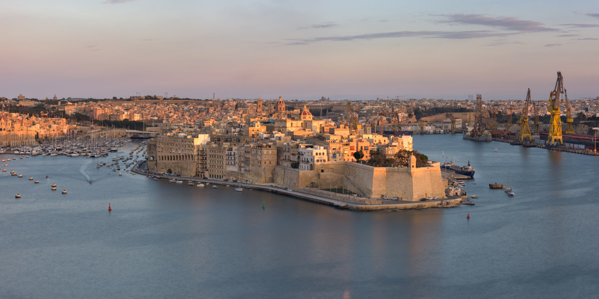 Senglea Skyline, Three Cities, Malta