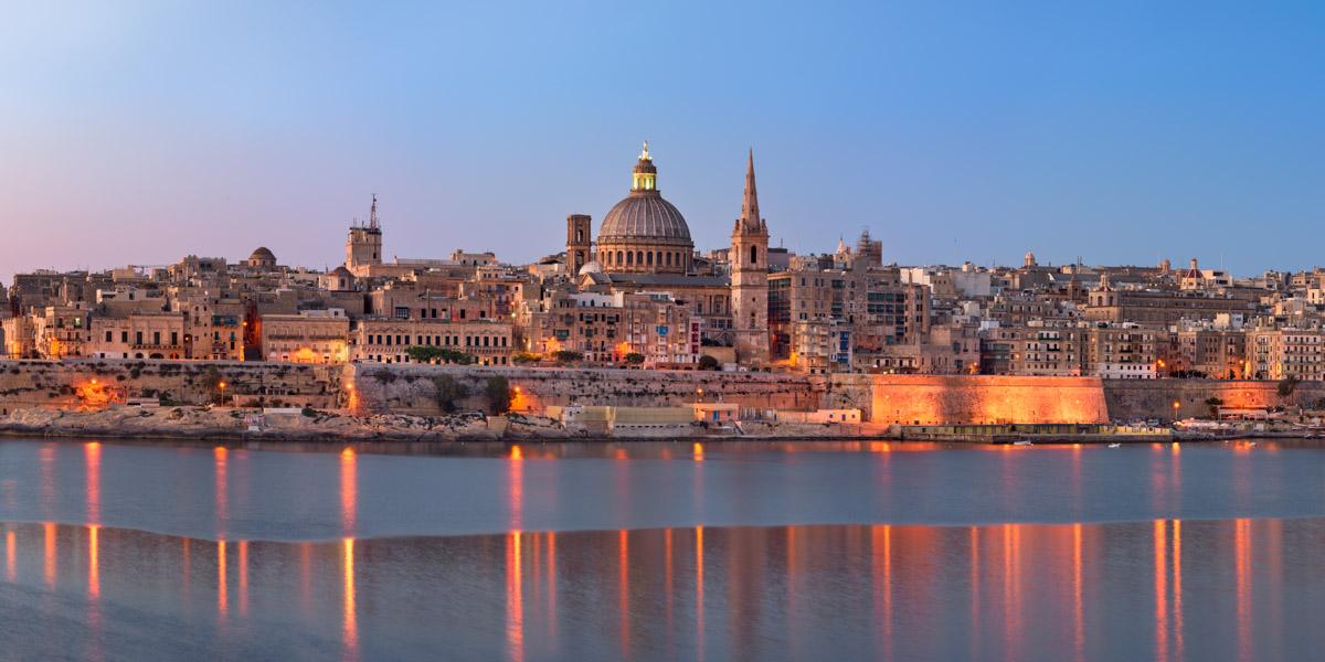 Panorama of Valletta Skyline, Malta