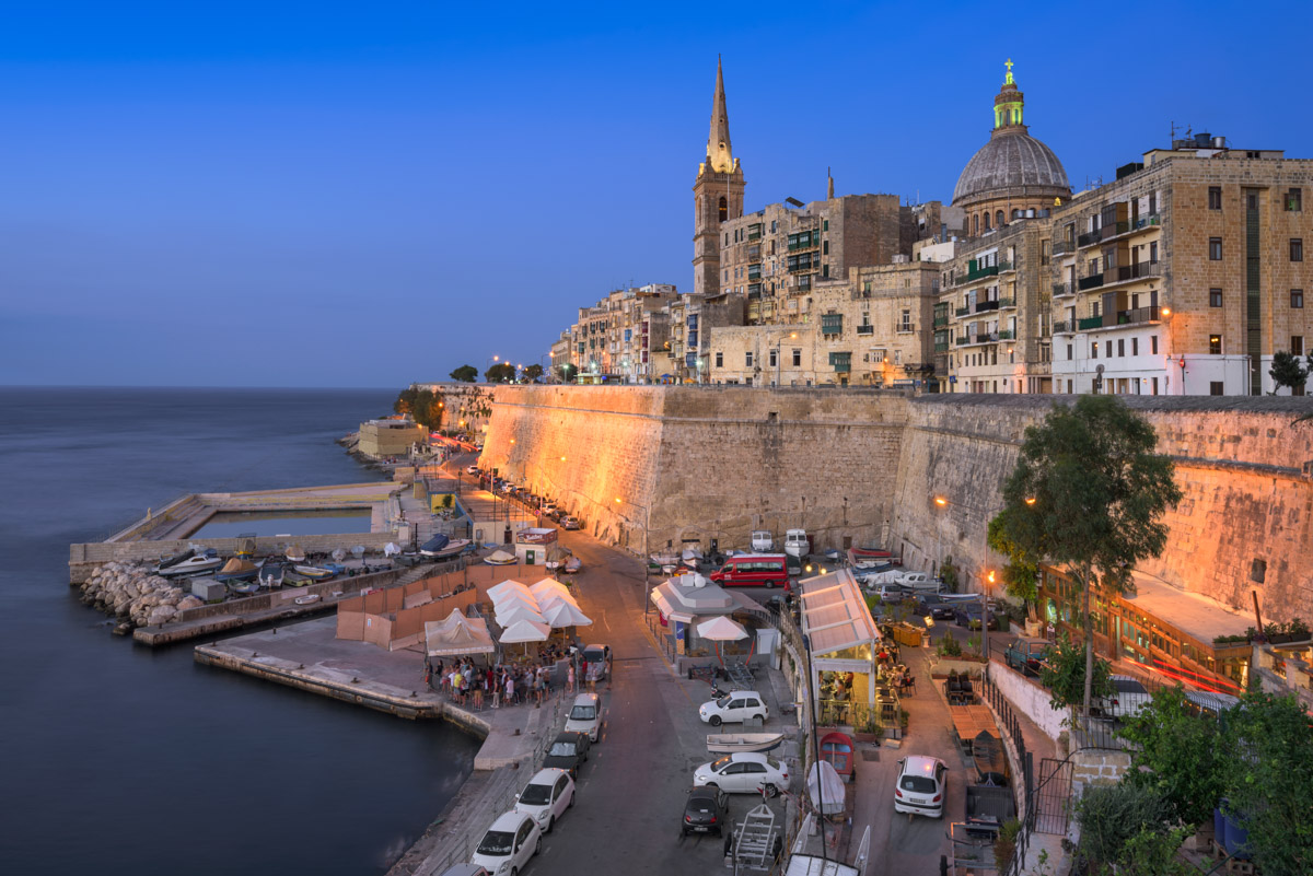 Valletta in the Evening, Malta