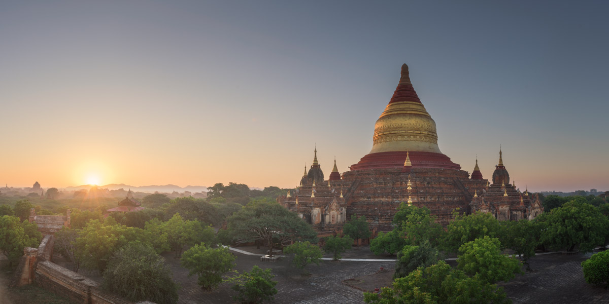 Panorama of Dhammayazaka Pagoda, Bagan, Myanmar