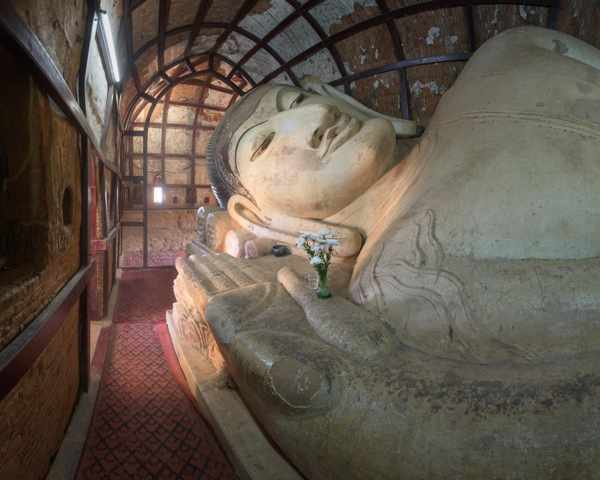 Reclining Buddha in Shinbinthalyaung Temple, Bagan, Myanmar