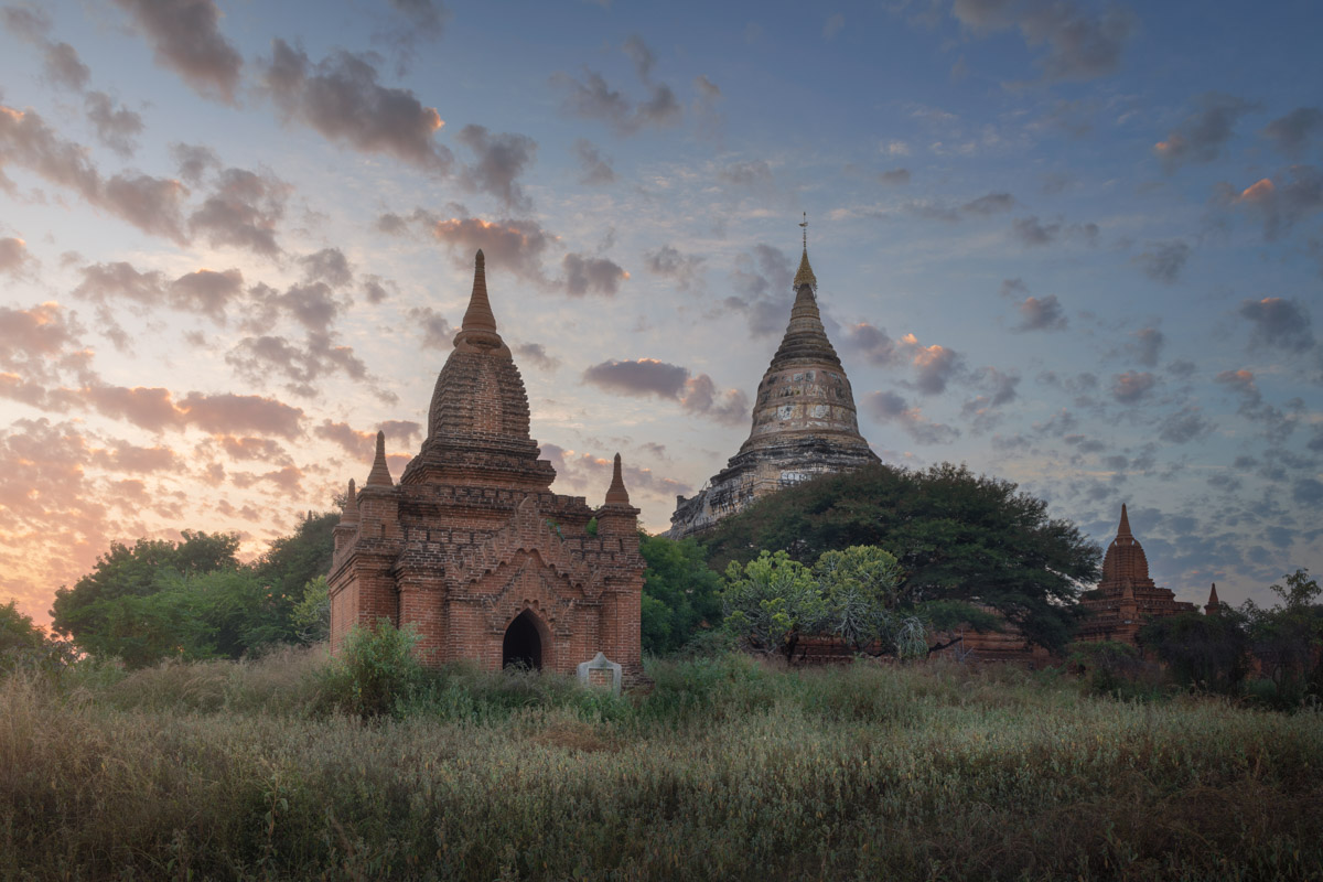 Shwesandaw Pagoda at Sunset, Bagan, Myanmar
