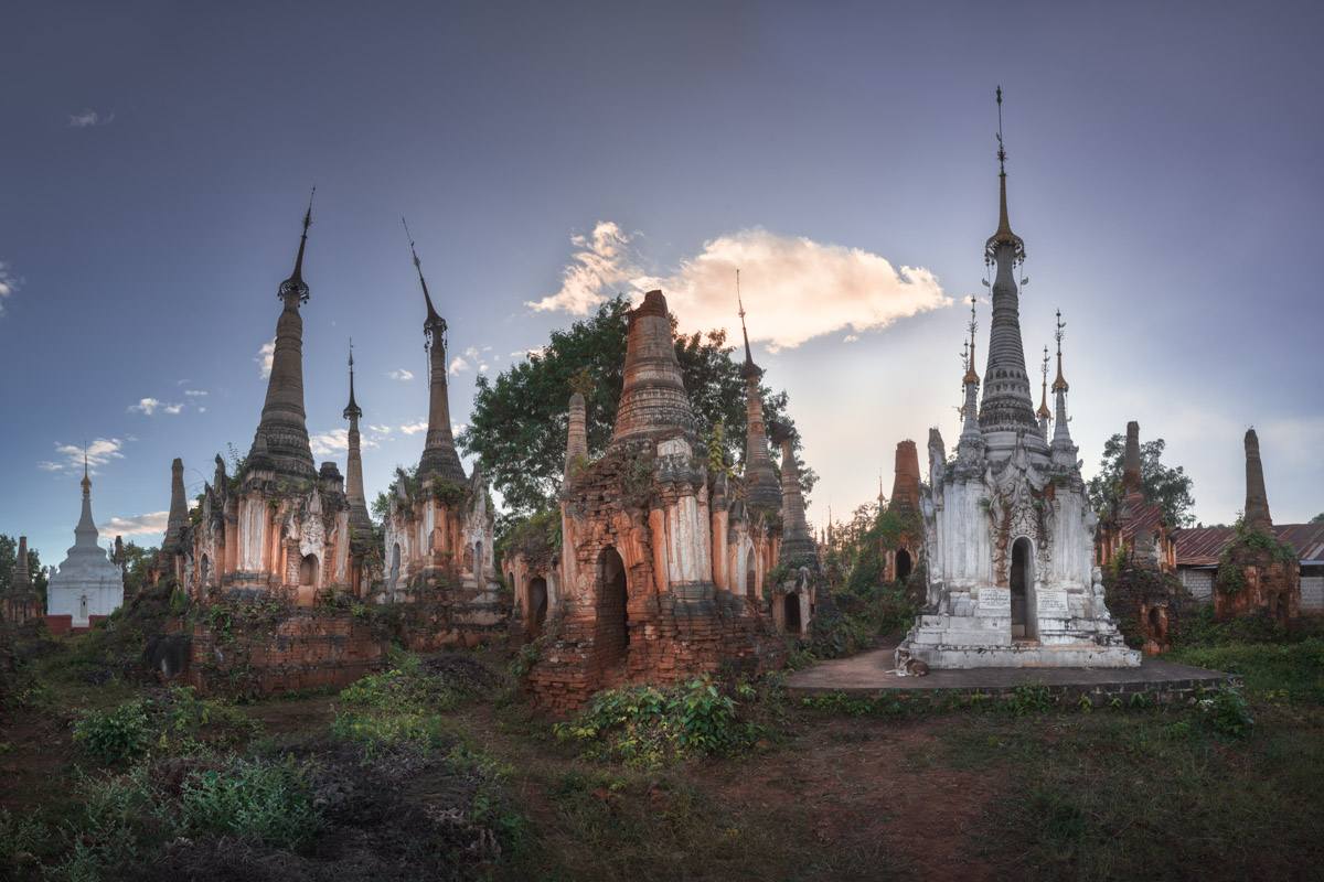 Shwe Inn Dein Pagodas, Inle Lake, Myanmar