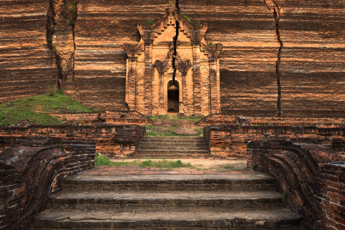 Pahtodawgyi Pagoda Entrance, Mingun, Myanmar