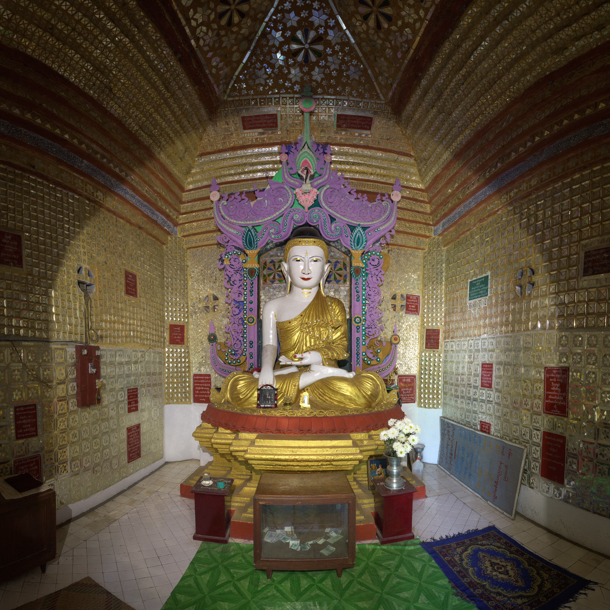 Seated Buddha, Sagaing Hill, Myanmar