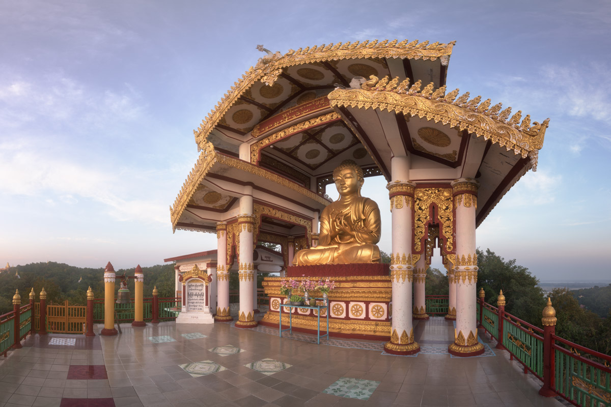 Seated Golden Buddha, Sagaing Hill, Myanmar